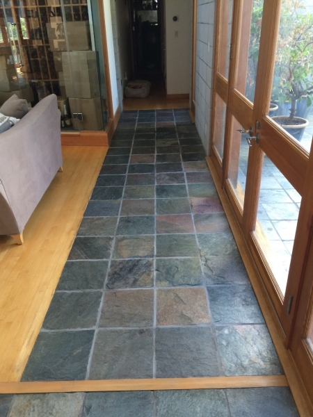 Slate tiles - cleaned, sealed, and buffed