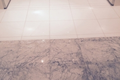 Marble Lobby - honed, polished, sealed, and buffed.
