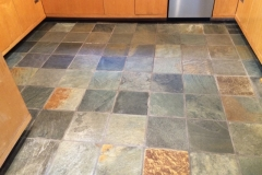 Slate tiles - cleaned, sealed, and buffed.