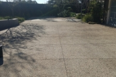 Concrete driveway - cleaned and sealed