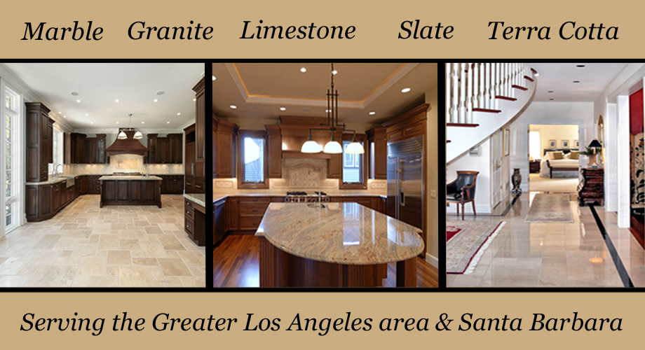 Los Angles Marble floor polishing, cleaning, sealing, waxing | Granite, Limestone, Slate, Terra Cotta and concrete restoration - Serving the Greater Los Angeles area & Santa Barbara