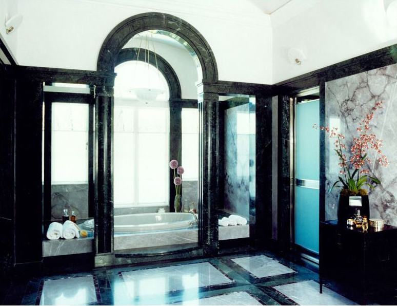 Beautiful marble floor finish